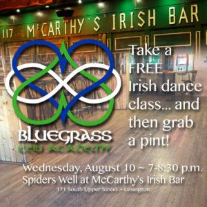 Free Irish Dance Class in Lexington with Bluegrass Ceili Academy