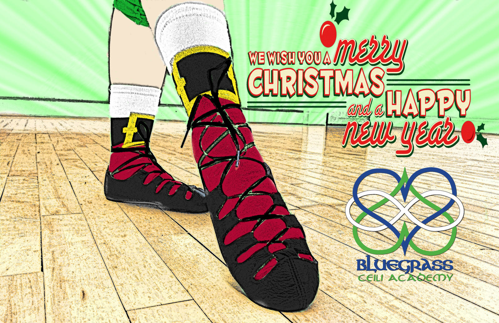 Happy holidays from our Lexington Irish Dance School