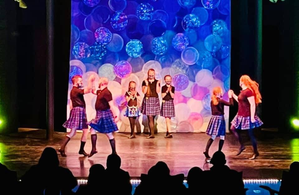 dancers onstage Irish dancing in Lexington with Bluegrass Ceili Academy